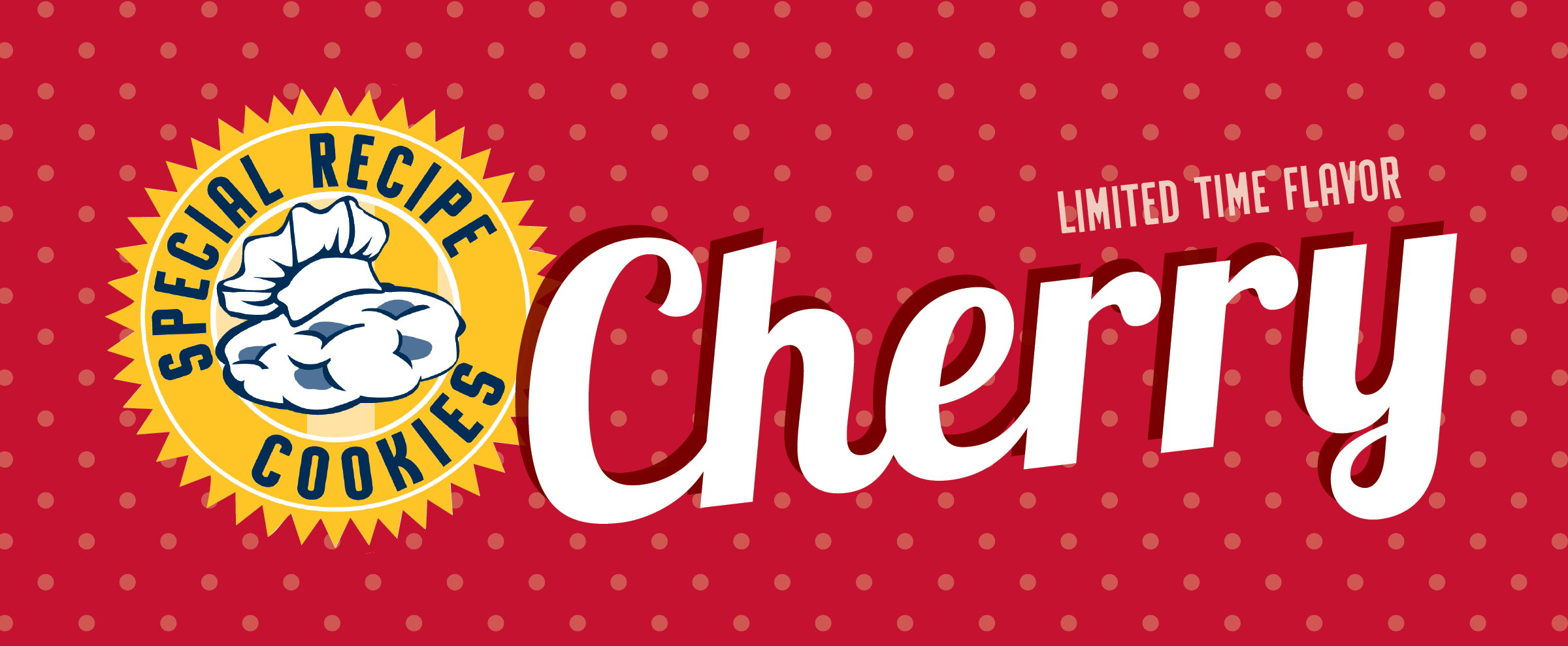 Special Recipe Cookies - Limited Time Flavor Cherry